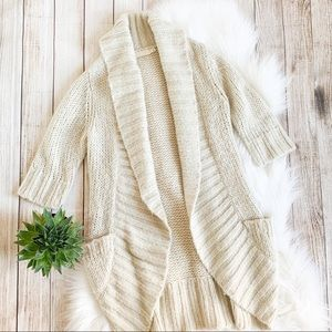 P UO Pins and Needles Chunky Knit Cardigan Duster